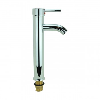 <PRE>Bathroom Faucet Single Hole Handle Chrome Solid Brass 12inch H </PRE>zoom1