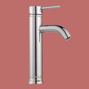 Single Lever Faucet 9 1/2 in. H Round - Glass sinks, Glass sink info & unique Glass accessories, quantity discounts on Glass sinks, Glass pedestal sinks, Glass wall mount sinks, Glass console sinks, counter top Glass sinks, Glass counter top sinks, Glass pedestal sinks, bathroom fixtures, Glass bathroom sinks, sink faucets & free shipping by Renovator's Supply.