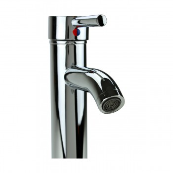 <PRE>Bathroom Faucet Single Hole 1 Handle Chrome Plated Brass 9.5inch</PRE>zoom4