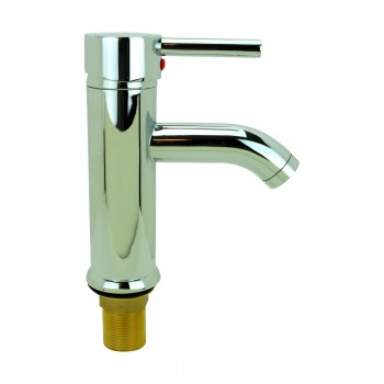 Lever Chrome Brass Round Chrome Single Lever Faucet 13109grid