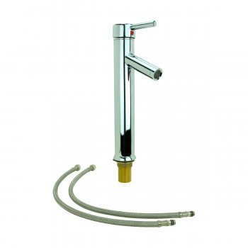 Bathroom Faucet Chrome Lever 1 Handle Tall 12H Single Hole