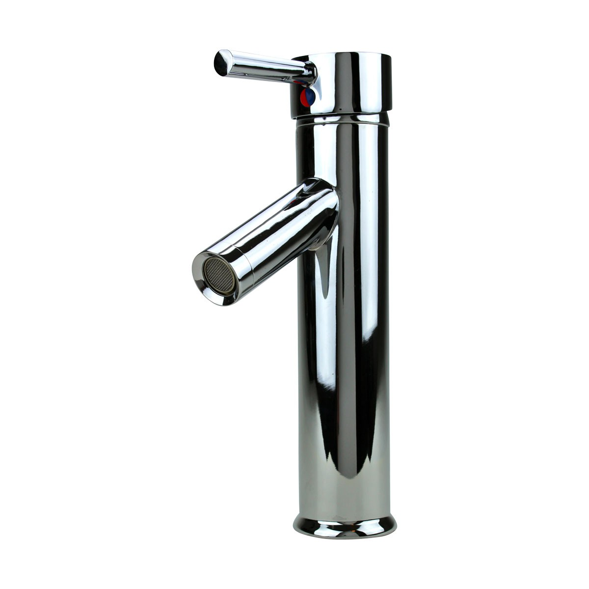 Bathroom Faucet Single Hole Handle Chrome Solid Brass 10\