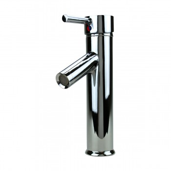 Bathroom Faucet Single Hole Handle Chrome Solid Brass 10 H