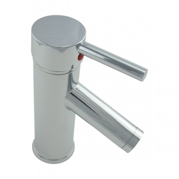 Bathroom Faucet Single Hole 1 Handle Chrome Plated Brass 7
