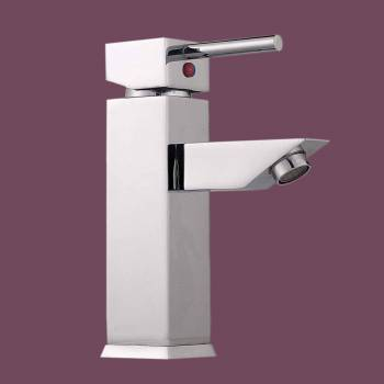 Single Lever Faucet Square - Glass sinks, Glass sink info & unique Glass accessories, quantity discounts on Glass sinks, Glass pedestal sinks, Glass wall mount sinks, Glass console sinks, counter top Glass sinks, Glass counter top sinks, Glass pedestal sinks, bathroom fixtures, Glass bathroom sinks, sink faucets & free shipping by Renovator's Supply.