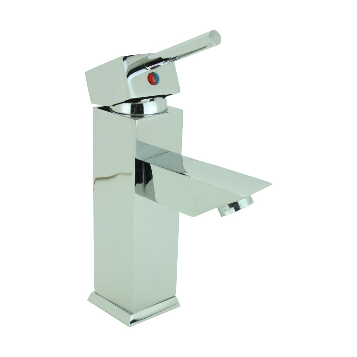 Bathroom Faucet Chrome Plated Square Single Hole 1 Handle Chrome Square Bathroom Faucet Brass Bathroom Faucets Bathroom Faucet Single Handle