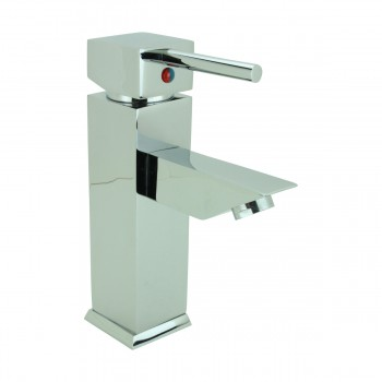 <PRE>Bathroom Faucet Chrome Plated Square Single Hole 1 Handle </PRE>zoom4