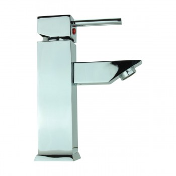 <PRE>Bathroom Faucet Chrome Plated Square Single Hole 1 Handle </PRE>zoom5