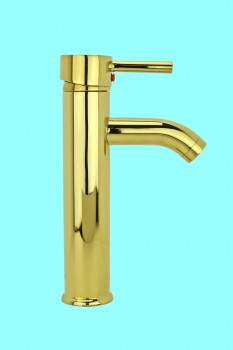 Single Lever Faucet  9 1/2in. Round - Glass sinks, Glass sink info & unique Glass accessories, quantity discounts on Glass sinks, Glass pedestal sinks, Glass wall mount sinks, Glass console sinks, counter top Glass sinks, Glass counter top sinks, Glass pedestal sinks, bathroom fixtures, Glass bathroom sinks, sink faucets & free shipping by Renovator's Supply.