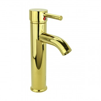 <PRE>Bathroom Faucet Gold PVD Brass Round Single Hole 1 Handle </PRE>zoom4