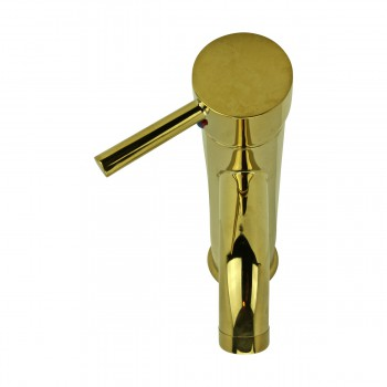 <PRE>Bathroom Faucet Gold PVD Brass Round Single Hole 1 Handle </PRE>zoom16