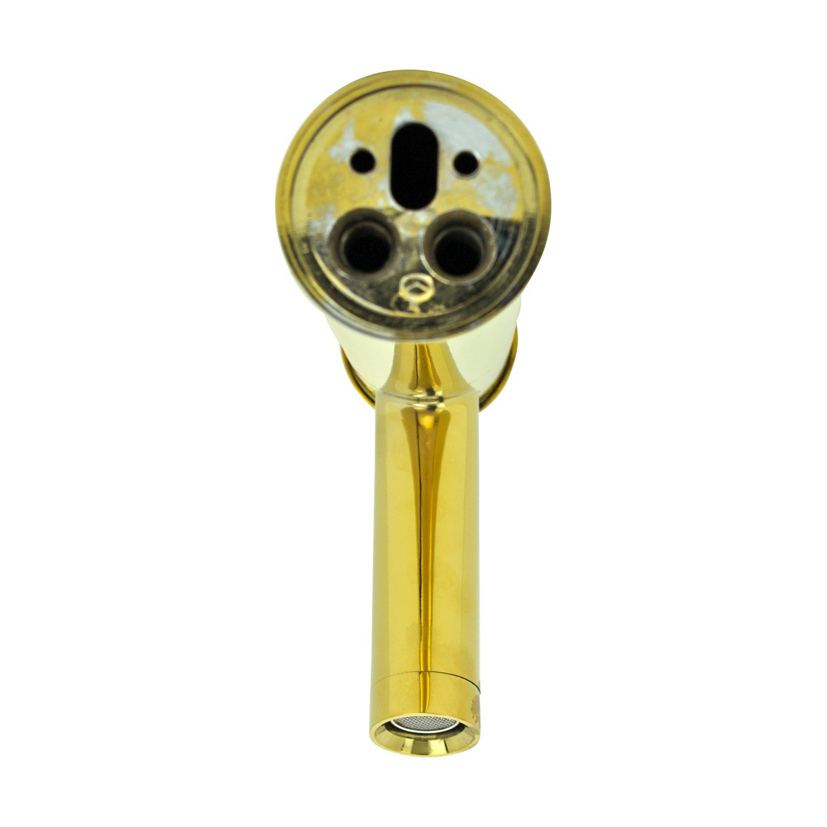 Bathroom Faucet Gold PVD Brass Round Single Hole 1 Handle Gold Pvd Bathroom Faucet Brass Bathroom Faucets Bathroom Faucet Single Handle