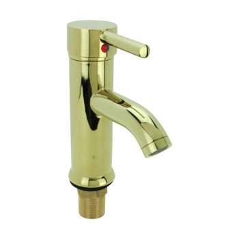 <PRE>Bathroom Faucet Gold PVD Brass Round Single Hole 1 Handle </PRE>zoom3
