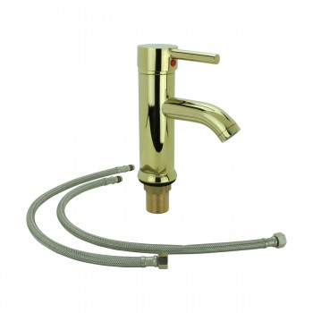 <PRE>Bathroom Faucet Gold PVD Brass Round Single Hole 1 Handle </PRE>zoom6