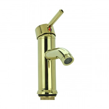 <PRE>Bathroom Faucet Gold PVD Brass Round Single Hole 1 Handle </PRE>zoom10