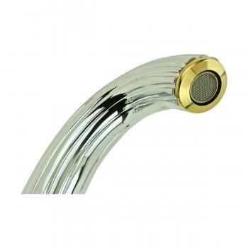 <PRE>Bathroom Shell Faucet Chrome Dual Ball 2 Handles Single Hole</PRE>zoom8