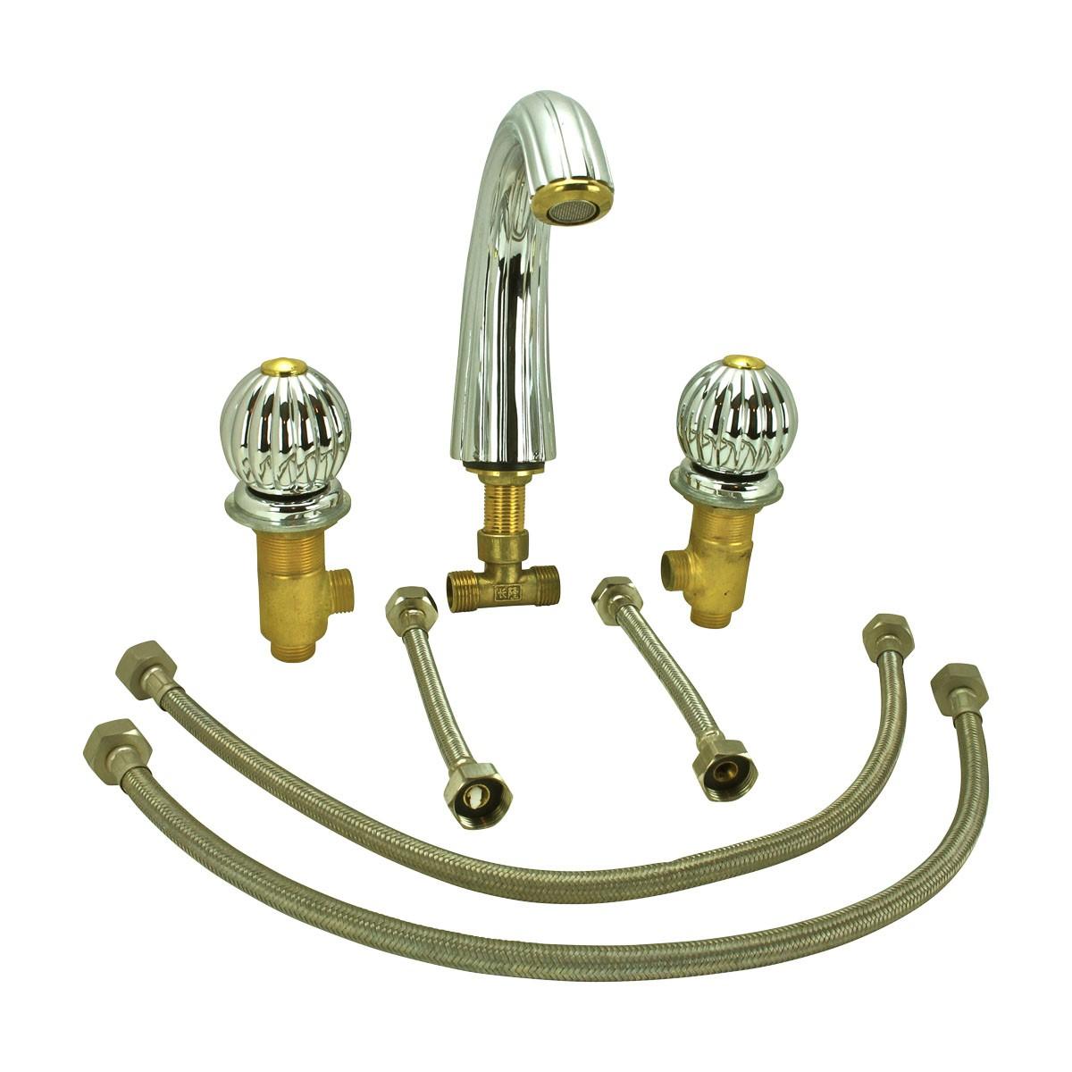 Bathroom Shell Faucet Chrome Widespread Dual Ball 2 Handles Widespread Faucets Wide spread Faucets Bathroom 8 Sink Faucet
