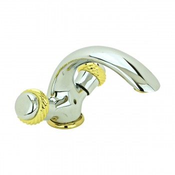<PRE>Bathroom Shell Faucet Chrome Crane Single Hole 2 Handles </PRE>zoom1