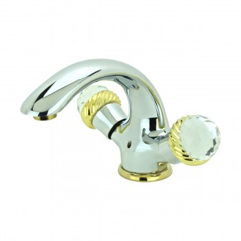 <PRE>Bathroom Faucet Chrome Silent Crane 2 Handles Single Hole </PRE>zoom4