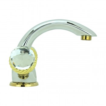 <PRE>Bathroom Faucet Chrome Silent Crane 2 Handles Single Hole </PRE>zoom5