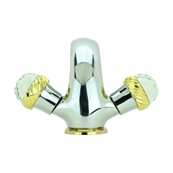 <PRE>Bathroom Faucet Chrome Silent Crane 2 Handles Single Hole </PRE>zoom6
