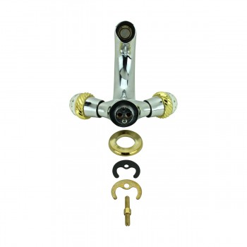 <PRE>Bathroom Faucet Chrome Silent Crane 2 Handles Single Hole </PRE>zoom10