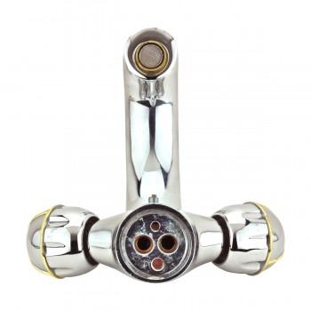 <PRE>Bathroom Faucet Swan Spout Chrome Single Hole 2 Handles </PRE>zoom6