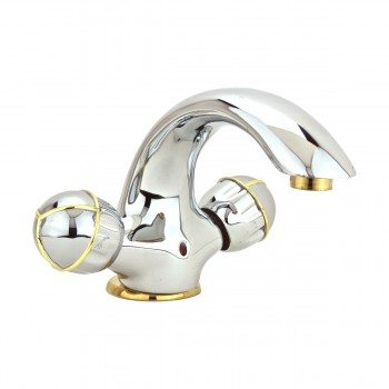 Bathroom Faucet Swan Spout Chrome Single Hole 2 Handles 13148grid