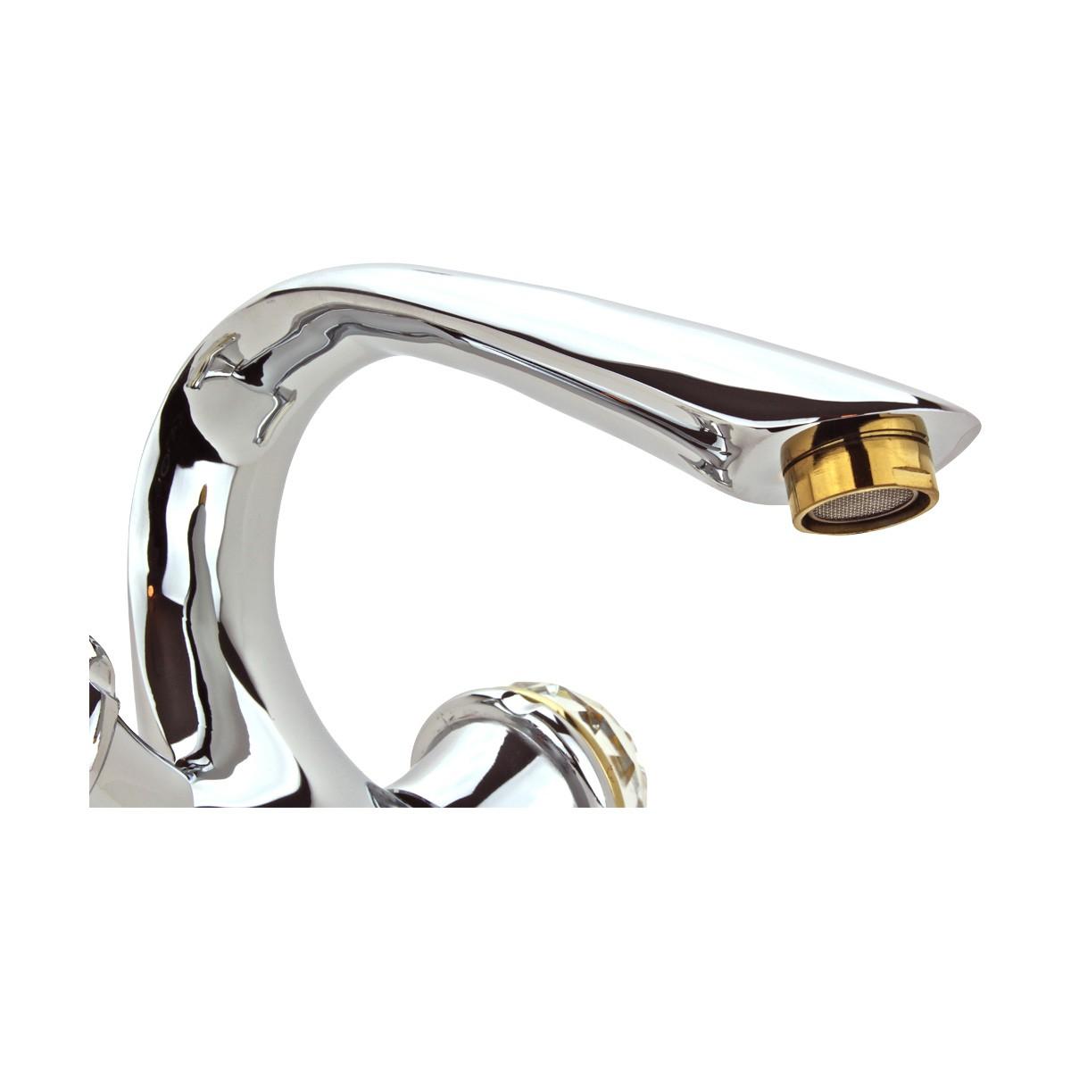 Bathroom Faucet Swan Spout Chrome Single Hole 2 Handles Faucets Bathroom Faucets Single Hole Faucet