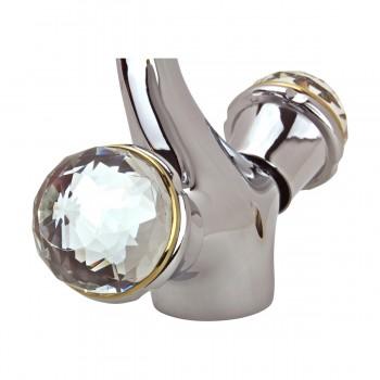 <PRE>Bathroom Faucet Swan Spout Chrome Single Hole 2 Handles </PRE>zoom9