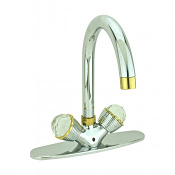 Kitchen Faucet Chrome Stetson Single Hole 2 Handles 13152grid