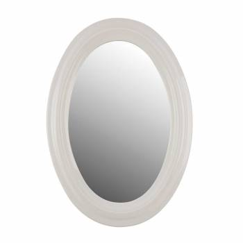 Bathroom Mirror White Porcelain Frame Oval