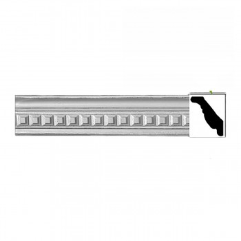 Cornice White Urethane Sample of 10515 13162grid