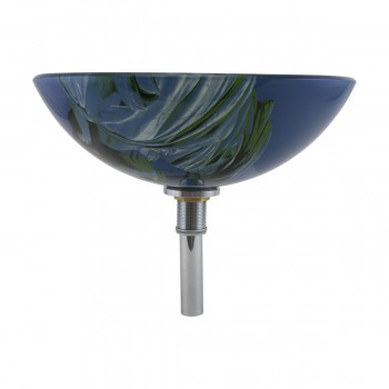 <PRE>Liberty Tempered Glass Vessel Sink with Drain, Blue Double-Layer Round Bowl Sink</PRE>zoom4