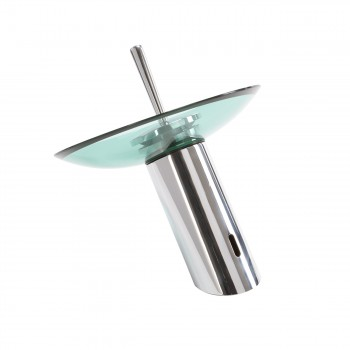 <PRE>Waterfall Faucet Heavy Cast Chrome Brass 7inch Glass Plate </PRE>zoom4