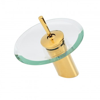 <PRE>Waterfall Faucet Single Hole Brass 7inch Clear Glass </PRE>zoom3