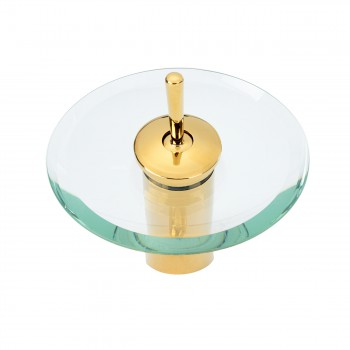 <PRE>Waterfall Faucet Single Hole Brass 7inch Clear Glass </PRE>zoom4