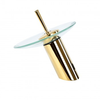 <PRE>Waterfall Faucet Single Hole Brass 7inch Clear Glass </PRE>zoom5