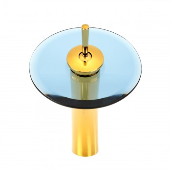 <PRE>Waterfall Faucet Heavy Cast PVD Brass 12inch Blue Glass </PRE>zoom3