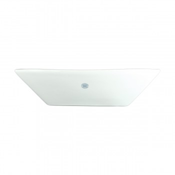 <PRE>Bathroom Vessel Sink Above Counter White Porcelain Square Gloss Finish Art Basin</PRE>zoom4