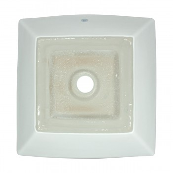 <PRE>Bathroom Vessel Sink Above Counter White Porcelain Square Gloss Finish Art Basin</PRE>zoom7
