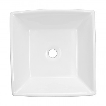 <PRE>Bathroom Vessel Sink Above Counter White Porcelain Square Gloss Finish Art Basin</PRE>zoom9