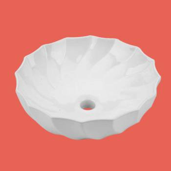 Cake Dish White Vessel Sink No Overflow - Vessel Sinks by Renovator's Supply.
