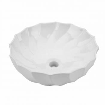 <PRE>White Vitreous China Bathroom Vessel Sink Vanity Sleek Above Counter Cake Dish</PRE>zoom1