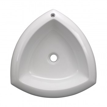 White Above Counter Bathroom Vessel Sink 13232grid