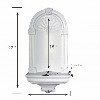 spec-<PRE>Niche White Urethane Wall Mount </PRE>
