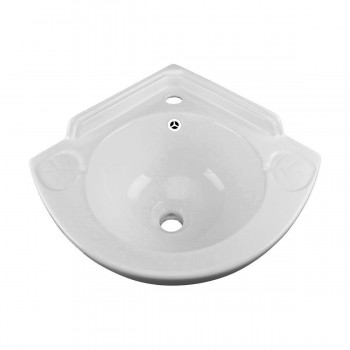 Renovator's Supply Porcelain Small Corner Bathroom Wall Mount Sink13262grid