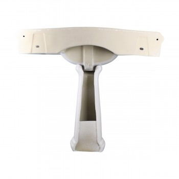 <PRE>White Widespread Pedestal Sink with Faucet Holes and Overflow</PRE>zoom5
