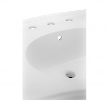 <PRE>White Widespread Pedestal Sink with Faucet Holes and Overflow</PRE>zoom6