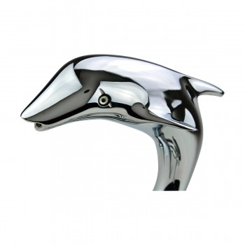 Single Hole Dolphin Shape Faucet Bathroom Mixer Tap Chrome Faucets Bathroom Faucets Single Hole Faucet